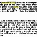 BetteBack January 9, 1978: Bette Midler Goes Missing