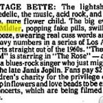 """BetteBack June 28, 1978: Bette Midler Throws Concert For """"The Rose"""""""