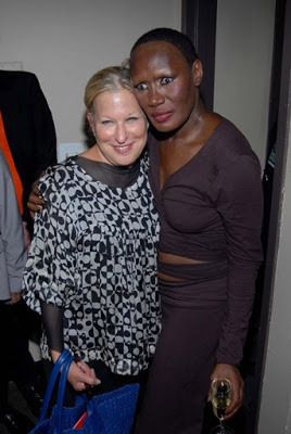 Bette Midler Backstage With Grace Jones