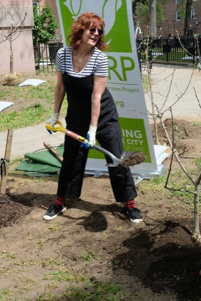Susan Sarandon Does A Little Digging And Planting For Bette Midler's NYRP