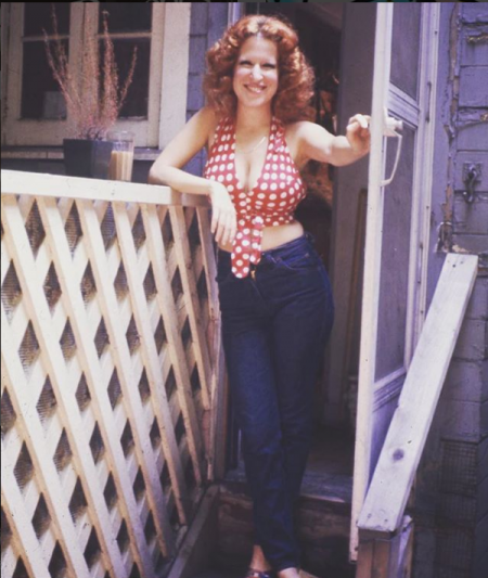 Photo: Bette Midler Taking A Step Out Her Back Door! Looks Like She's Going To Feed The Kardashian Chickens!