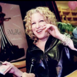 Photo: Bette Midler signing copies of her CD on her mini-tour of nightclubs - The Bathhouse Betty Club Tour - circa 1998