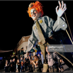 Giant Bette Midler As Winifred Puppet Parades Down Derby Street Thanks To National Parks Service