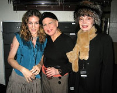 Sarah Jessica Parker, Bette Midler, and Toni Basil backstage at Kiss My Brass