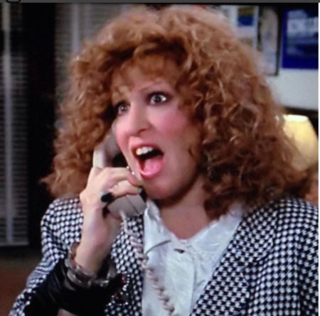 Bette Midler in Outrageous Fortune