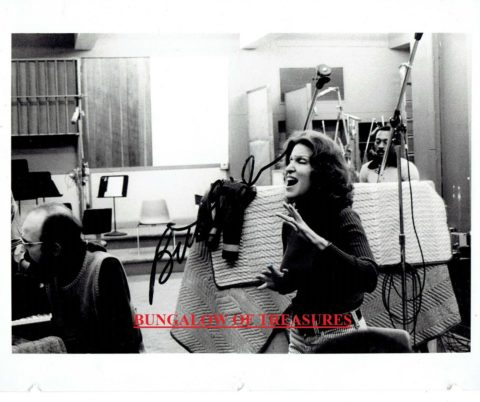 Photo: Bette Midler in the recording studio for The Divine Miss M in 1972 - Rare