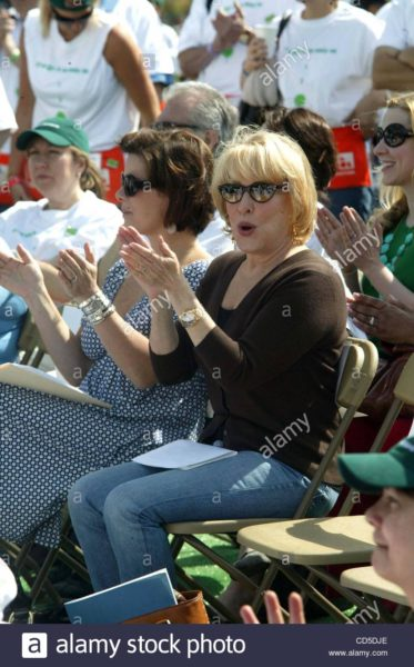 Bette Midler and Marcia Gay Harden at Arbor Day  Celebration