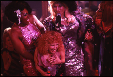 Bette Midler singing Fire Down Below with the drag queens