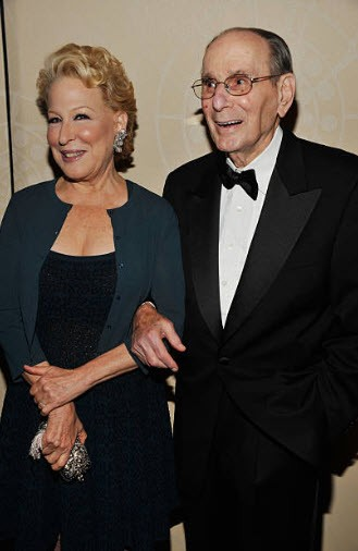 Bette Midler with songwriting legend Hal David