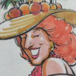 Tropicana Artwork For Bette Midler Ad In The Early '80s