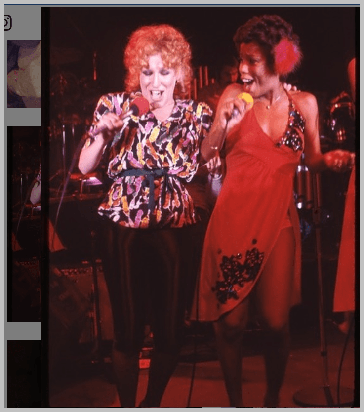 Bette Midler and Sharon Redd performing at the Paradise Club in Boston, circa 1978