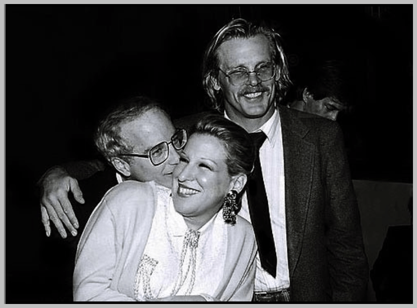 Bette Midler, Richard Dreyfuss, and Nick Nolte at the premiere of Down And Out In Beverly Hills