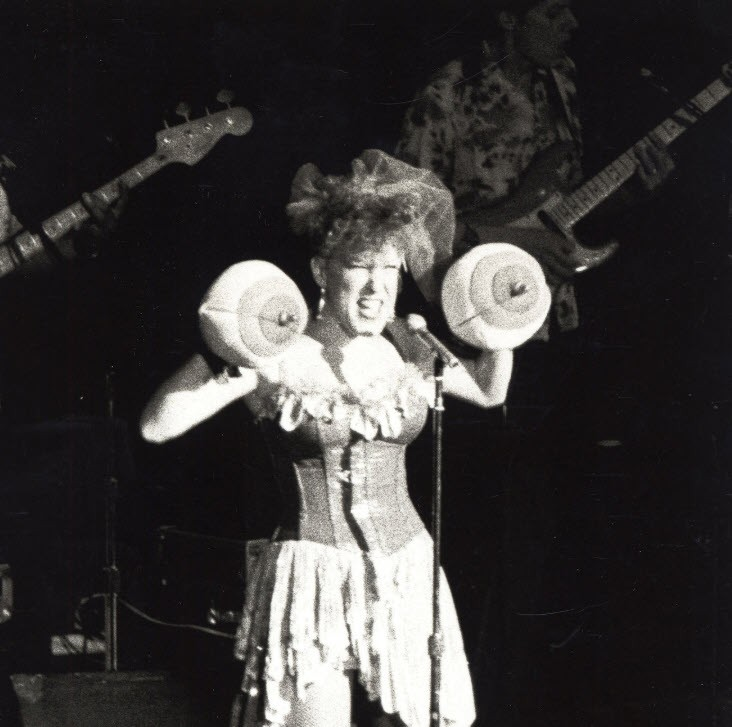 The Real Bette Midler Performs At Gloria Steinem's 50th Birthday Party000000