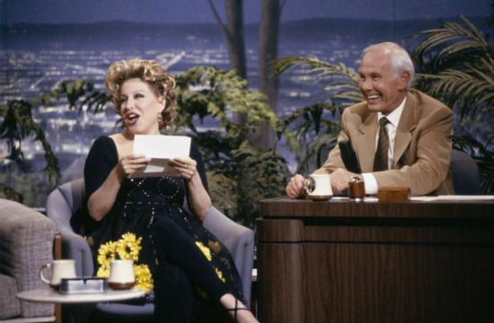 Bette Midler and Johnny Carson