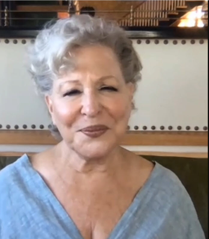 Bette Midler promoting The Glorias