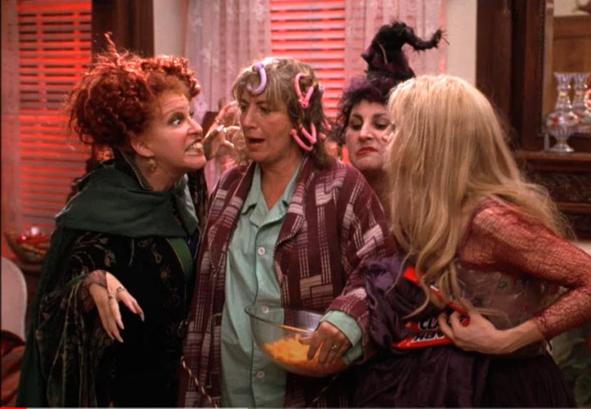 The Sanderson Sisters and Penny Marshall
