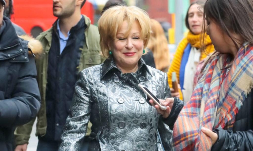 NEW YORK, NY - NOVEMBER 08: Bette Midler is seen on November 08, 2019 in New York City.   (Photo by BG024/Bauer-Griffin/GC Images)