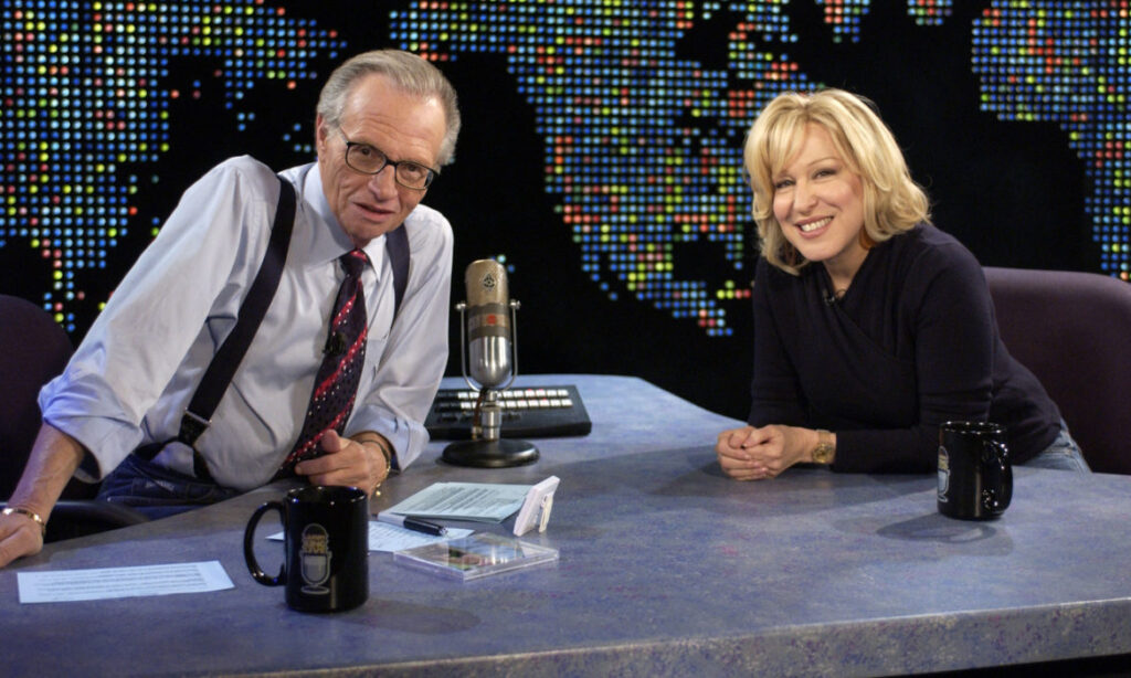 Larry King and Bette Midler circa 1965