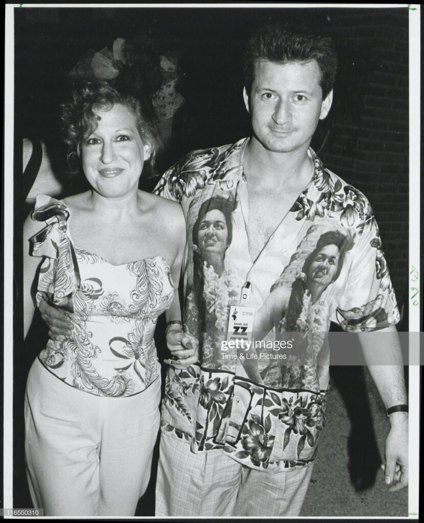 Bette Midler and Harry at Live Aid