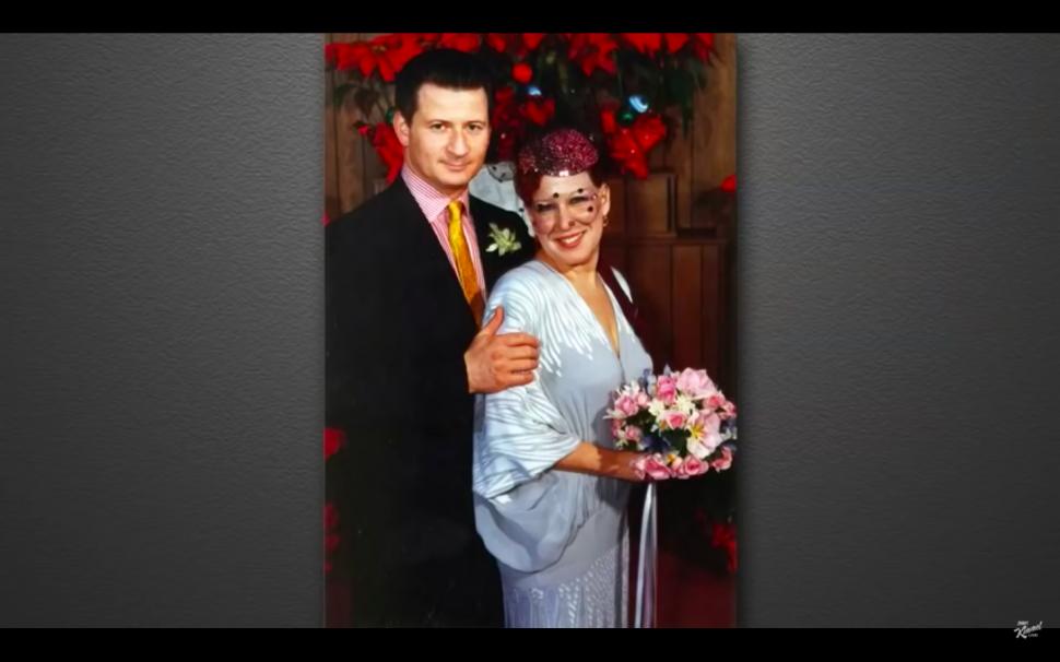 Martin von Haselberg and Bette Midler Wedding Photo