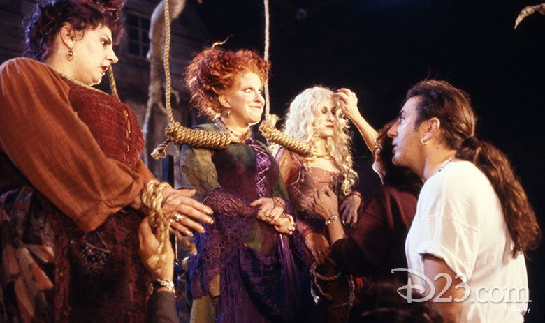 The Sanderson Sisters with Director Kenny Ortega
