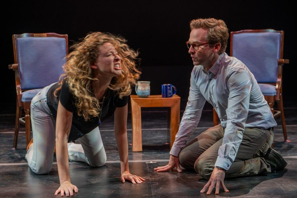 Sophie Von Haselberg and Ryan Spahn in Edward Albee's At Home At The Zoo