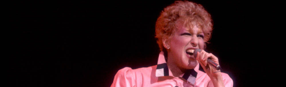 Bette Midler at the Holiday Star Theater in Merrillville, Indiana, March 2, 1983. (Photo by Paul Natkin/Getty Images)