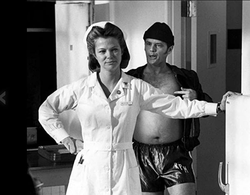 Jack Nicholson and Louise Fletcher in One Flew Over the Cuckoo's Nest