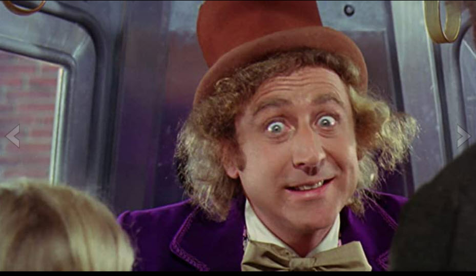 Gene Wilder, Jack Albertson, and Peter Ostrum in Willy Wonka & the Chocolate Factory