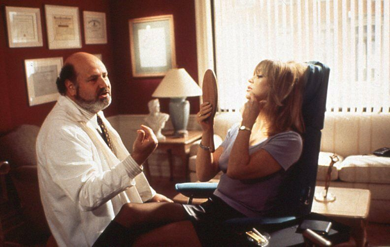 Rob Reiner and Goldie Hawn in The First Wives Club